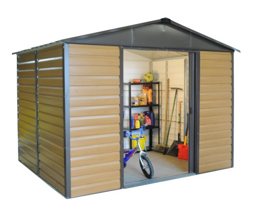 Trigano Woodgrain Metal Apex Shed 10 x 8