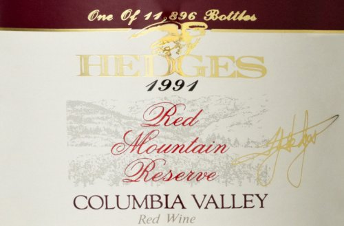 1991 Hedges Family Estate Red Mountain Reserve 750 Ml