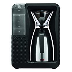 Bodum 11001-01TG Bistro Automatic Pour Over Coffee Machine with Thermal Carafe, 40 oz, Black from Bodum
