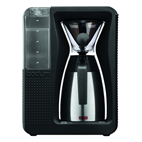 Bodum 11001-01TG Bistro Automatic Pour Over Coffee Machine with Thermal Carafe, 40 oz, Black