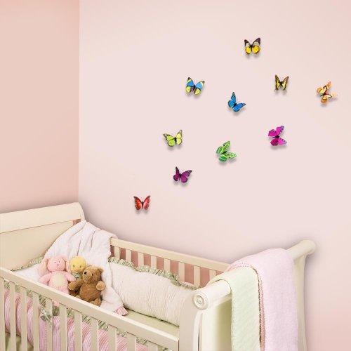 Walplus adesivi da parete sticker murali con farfalle for Adesivi parete 3d
