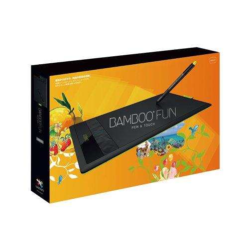 Wacom ペンタブレット Mサイズ ブラック フォトショップエレメンツ&ペインターエッセンシャル付属 Bamboo Fun CTH-670/K1