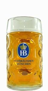 0.5 Liter HB Hofbrauhaus Munchen Dimpled Glass Beer Stein from Hofbrauhaus
