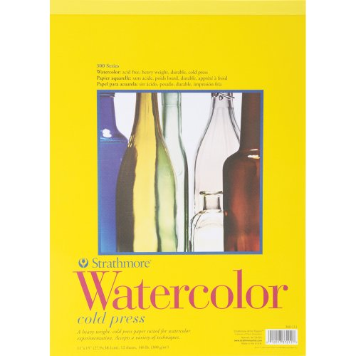 Strathmore 11-Inch by 15-Inch Watercolor Cold Press Paper Pad, 12-Sheet