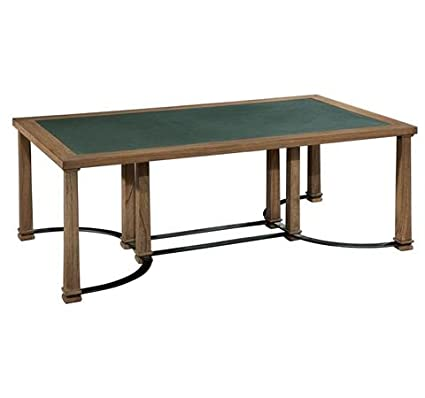 951400WT Weathered Transitions Iron & Blue Stone Coffee Table