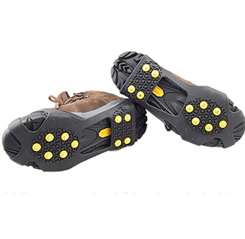 Bekith all purpose traction aid ice grips traction for Ice fishing cleats