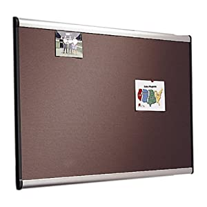 Quartet Prestige Plus Diamond Mesh Fabric Bulletin Board, 3 x 4 Feet, Aluminum Frame (B444A)