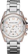 Michael Kors Womens MK5459 Blair Silver   Rose Gold Watch
