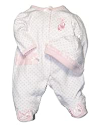 Baby / Infant Girls Prima Ballerina Footie Sleeper with Hat by Little Me - Pink - Newborn