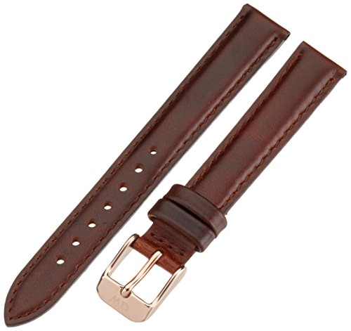 Daniel Wellington Classy St Andrews Women'S Brown Leather Buckle Watch Strap With Rose Gold 1000Dw