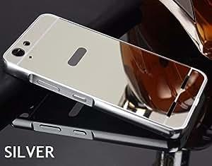 AUDOS *MIRROR ALUMINIUM METAL* Bumper Back Cover Case For Lenovo Vibe K5 / K5 Plus (Rose Gold)