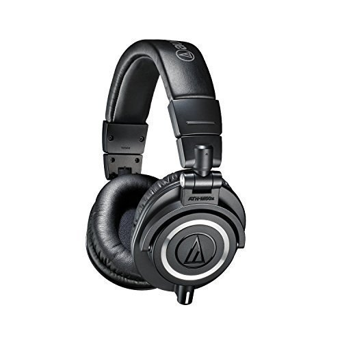 Audio-Technica ATH-M50X Professional Studio Headphones (Black)(Certified Refurbished)