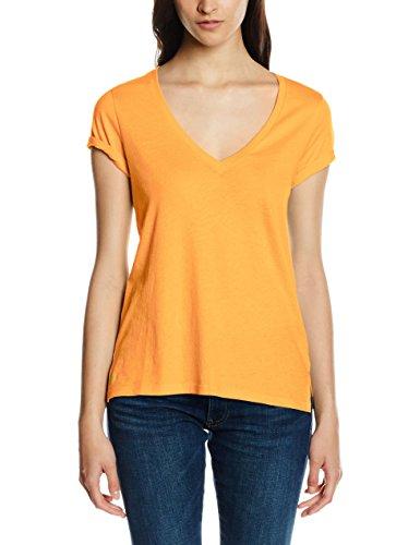Polo Ralph Lauren CHRISTY TEE SS KNT, T-shirt Donna, Orange (FLO ORANGE FLASH B8H03), 42