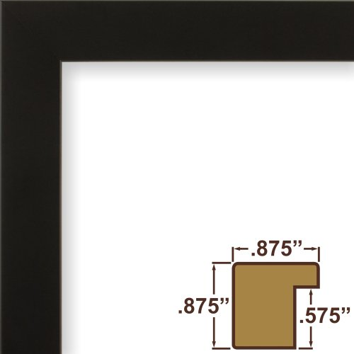 craig frames 12 by 36inch picture frame solid wood smooth finish 875inch wide black