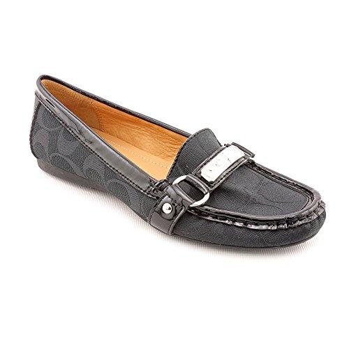 Coach Felisha Womens Size 6.5 Black Moc Textile Loafers Shoes