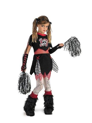 Cheerless Leader Girls Zombie Gothic Monster High Kids Halloween Costume 10-12