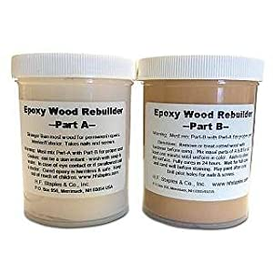 Staples 403 epoxy wood rebuilder 16 ounce wood fill for Wood floor epoxy filler