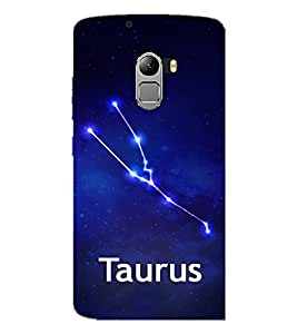 PrintDhaba Zodiac Taurus D-4840 Back Case Cover for LENOVO K4 NOTE A7010a48 (Multi-Coloured)