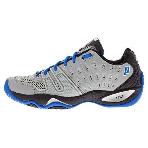 Prince T22Scarpe da tennis uomo, grigio/nero/blu royal, Grey/Black/Royal
