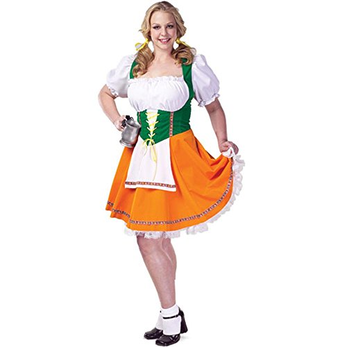 Plus Size Sexy Beer Garden Costume (Size: 22-24)