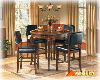 Lakota 5 Pcs Pub Table with 4 Bar Stools By Ashley Furniture