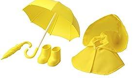 コトブキヤ キューポッシュえくすとら 雨の日セット 黄 ノンスケール ABS&TPE&ナイロン製 塗装済みフィギュア用アクセサリー