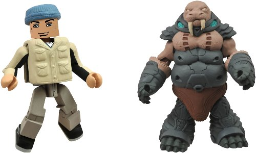 Diamond Select Toys Battle Beasts Minimates Series 1: Gruntos and Tate, 2-Pack - 1