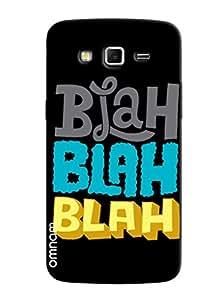 Omnam Blah Blah Effect On Black Background Designer Back Cover Case for Samsung Glaxy Grand 2