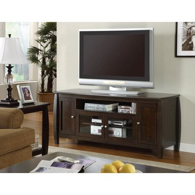 Monarch Specialties Veneer Length TV Console with Speaker Doors, 60-Inch, Dark Walnut image B007V98QUY.jpg