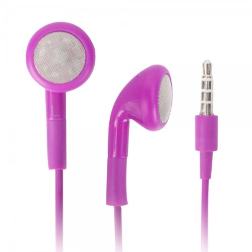 Purple 3.5Mm Stereo Fashion Earphone Headsets With Microphone For Best Buy Insignia Flex (By Things Needed)