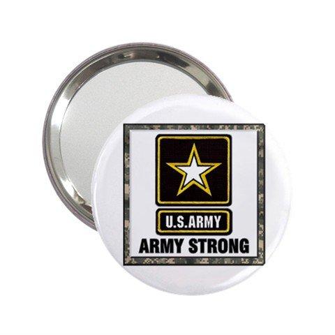 2.25 Inch Handbag Mirror of U.S. Army Strong Camouflage