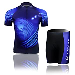 Buy Baleaf Mens Short Sleeve Cycling Jersey Blue Earth Style by Baleaf