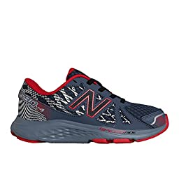 New Balance KJ690Y Running Shoe (Little Kid/Big Kid), Grey/Red, 2 M US Little Kid