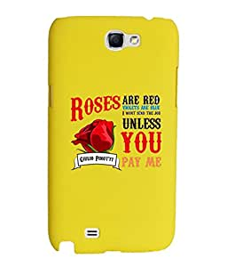 KolorEdge Back Cover For Samsung Galaxy Note II N7100 - Yellow (1872-Ke15170SamNote2Yellow3D)