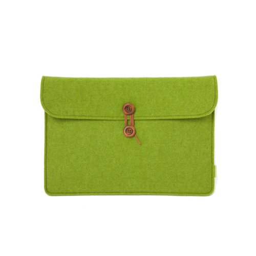 Suoran Lenove Thinkpad S1 Yoga 12.5 Inch Sleeve Case Cover Portable Computer Sleeve Laptop Bag Wool Felt Sleeve For Thinkpad S1 Yoga 12.5 Inch-Green