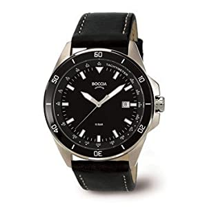 3577-06 Mens Boccia Titanium Watch with Tachymeter