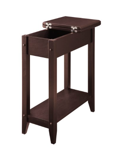 Convenience Concepts American Heritage Flip Top End Table, Espresso (Rectangle End Table compare prices)