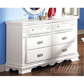ACME 01685 Flora Dresser, White Finish