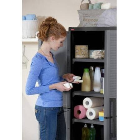 Keter Space Winner Tall Metro Storage Utility Cabinet Indoor / Outdoor Garage or Home Storage with Adjustable Shelves (Resin Storage Shelves compare prices)