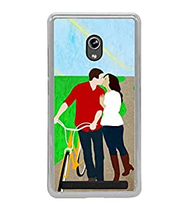 Kissing Love Couple 2D Hard Polycarbonate Designer Back Case Cover for Asus Zenfone 6 A600CG