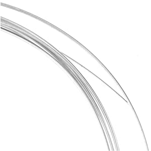Sterling Silver Wire Half Round Half Hard 20 Gauge (5 Feet)