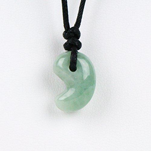 古代勾玉(まがたま)ペンダント ヒスイ[翡翠輝石 Jadeite]縦約20mm×横約15mm×厚み約9mm※巾着袋付き