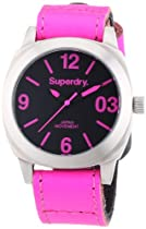 Superdry Ladies Pink Leather Strapped Watch