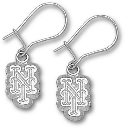 New York Mets Sterling Silver Dangle Earrings