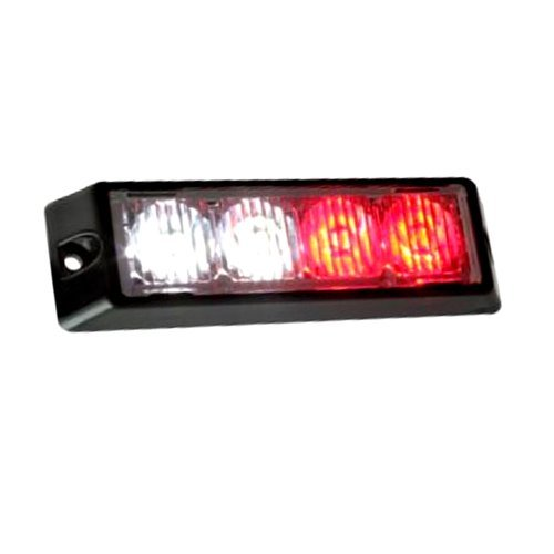 851 Red White 4 Led Emergency Strobe Light Head Waterproof Surface Mount Deck Dash Grille