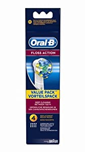 Braun Oral-B EB25-4 Floss Action Replacement Rechargeable Toothbrush Heads 4-Pack