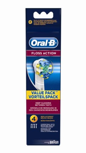 Brauneb25-4 Floss Action Replacement Rechargeable Toothbrush Heads - Pack Of 4 By Oral-b