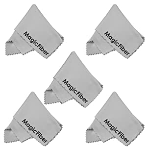 (5 Pack) MagicFiber Microfiber Cleaning Cloths for Tablets, Phones, Glasses and Other Delicate Surfaces