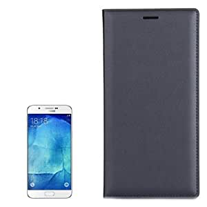 Crazy4Gadget Litchi Texture Horizontal Flip Leather Case with Card Slot for Samsung Galaxy A8 / A800(Grey)