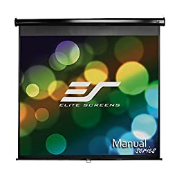 Elite Screens Manual, 136-inch 1:1, Pull Down Projection Manual Projector Screen with Auto Lock, M136UWS1
